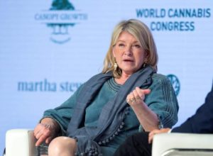 Martha Stewart partnered with Canopy Growth to develop hemp-derived CBD products.